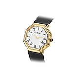 BAUME AND MERCIER: MENS 18 K GOLD WRISTWATCH -    - Auction of Fine Jewels & Watches