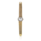 PIAGET: LADIES 18 K GOLD AND DIAMOND WRISTWATCH -    - Auction of Fine Jewels & Watches