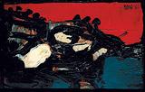 Ciel Rouge Sur Le Lac - S H Raza - Summer Auction 2010