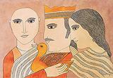 The Hamsa Birth - Badri  Narayan - Winter Auction 2010