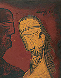 The Trial (Christ and Pilate) - F N Souza - Winter Auction 2010