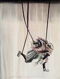 Violet Ribbons - Anju  Dodiya - Autumn Auction 2011