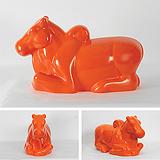 Nandi in Orange - Arunkumar H G - Autumn Auction 2011