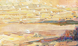 Flight of Cranes II - Jehangir  Sabavala - Autumn Auction 2011