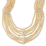 A SEVEN-STRAND NATURAL PEARL NECKLACE -    - Auction of Fine Jewels & Watches