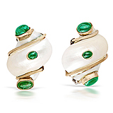 A PAIR OF CHRYSOPRASE EAR CLIPS, BY SEAMAN SCHEPPS -    - Auction of Fine Jewels & Watches
