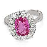 AN IMPORTANT PINK SAPPHIRE AND DIAMOND RING -    - Auction of Fine Jewels & Watches
