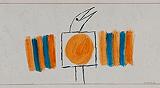 Untitled - Jagdish  Swaminathan - 99 Modern Paperworks