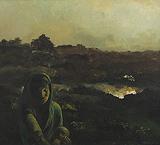 In Evening - Bikash  Bhattacharjee - Spring Auction 2011