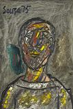 Portrait - F N Souza - Spring Auction 2011