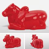 Nandi in Red - Arunkumar H G - Summer Art Auction
