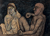 Man and Woman - Jogen  Chowdhury - Summer Art Auction