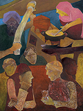 Gupshup at Gyanijis - Krishen  Khanna - Summer Art Auction