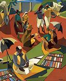 The Bangle Sellers - Jehangir  Sabavala - Summer Art Auction