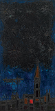 London at Night - F N Souza - Summer Art Auction