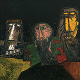 Businessmen - F N Souza - Summer Art Auction