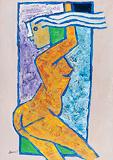 Nauch Girl - M F Husain - Winter Online Auction