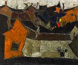 Le Village - S H Raza - Winter Online Auction