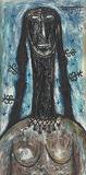 Negress with Braids - F N Souza - Winter Online Auction