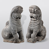 A Pair of Yalis -    - Indian Antiquities
