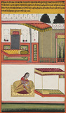 A Lady Awaits her Lover -    - Indian Antiquities & Miniature Paintings