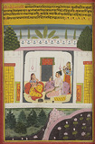 Chitra Maasa - A Maharaja and his Queen -    - Indian Antiquities & Miniature Paintings
