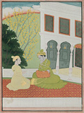 Krishna Yearning for his Lover -    - Indian Antiquities & Miniature Paintings