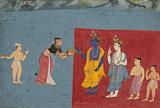 Kubja Offers Sandal Paste to Krishna -    - Indian Antiquities & Miniature Paintings