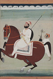 A Nobleman on Horseback -    - Indian Antiquities & Miniature Paintings
