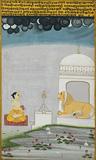 Bangal Ragini - A Devotee Seated Before a Shiva Shrine -    - Indian Antiquities & Miniature Paintings