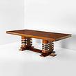 A TWIN PEDESTAL DINING TABLE - 24-Hour Online Auction: Art Deco