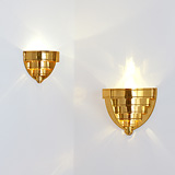TWO STEPPED WALL SCONCES -    - 24-Hour Online Auction: Art Deco