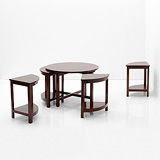 A CIRCULAR COFFEE TABLE -    - 24-Hour Online Auction: Art Deco