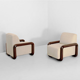 A PAIR OF ARMCHAIRS -    - 24-Hour Online Auction: Art Deco