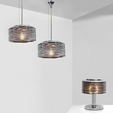 TWO CEILING LIGHTS AND A TABLE LAMP -    - 24-Hour Online Auction: Art Deco