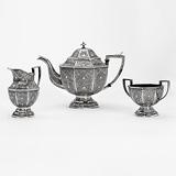 A KASHMIRI TEA SET -    - 24-Hour Online Auction: Art Deco