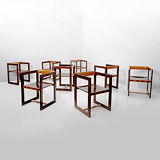 A SET OF EIGHT CHAIRS -    - 24-Hour Online Auction: Art Deco