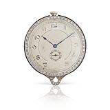 AN ENAMEL AND DIAMOND POCKET WATCH -    - 24-Hour Online Auction: Art Deco