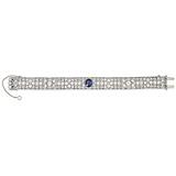 A SAPPHIRE AND DIAMOND BRACELET, GROGAN & CO. -    - 24-Hour Online Auction: Art Deco