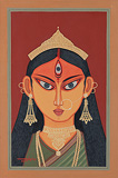Durga - Lalu Prasad Shaw - Autumn Art Auction