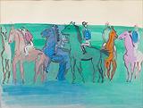 Groupe de jockeys et chevaux (Group of Jockeys and Horses) - Raoul  Dufy - Impressionist and Modern Art Auction