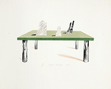 Glass Table with Objects - David  Hockney - Impressionist and Modern Art Auction