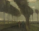 L'Allee aux deux promeneurs (Lane with Two Figures) - Vincent van Gogh - Impressionist and Modern Art Auction