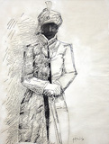 Untitled - K M Adimoolam - Words & Lines II Auction
