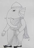 Untitled - Badri  Narayan - Words & Lines II Auction