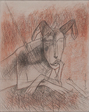 Untitled - Ganesh  Pyne - Words & Lines II Auction