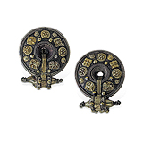 A Pair of 'Akota' Ear Clips -    - 24-Hour Auction: Indian Folk and Tribal Art and Objects