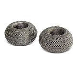 A Pair of Silver Anklets -    - 24-Hour Auction: Indian Folk and Tribal Art and Objects