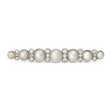 A NATURAL PEARL AND DIAMOND BAR BROOCH -    - Auction of Fine Jewels & Watches