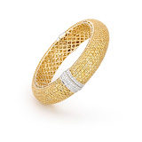 A YELLOW SAPPHIRE AND DIAMOND BANGLE -    - Auction of Fine Jewels & Watches